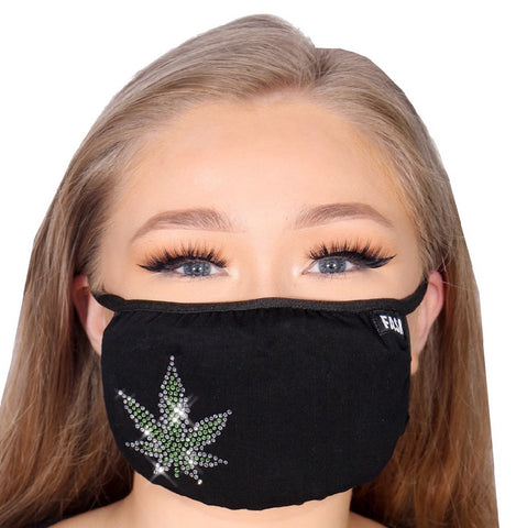 FASK Cannabis Cotton 2.0 Stoned Mask with Interchangeable Filter and Adjustable Size Strap