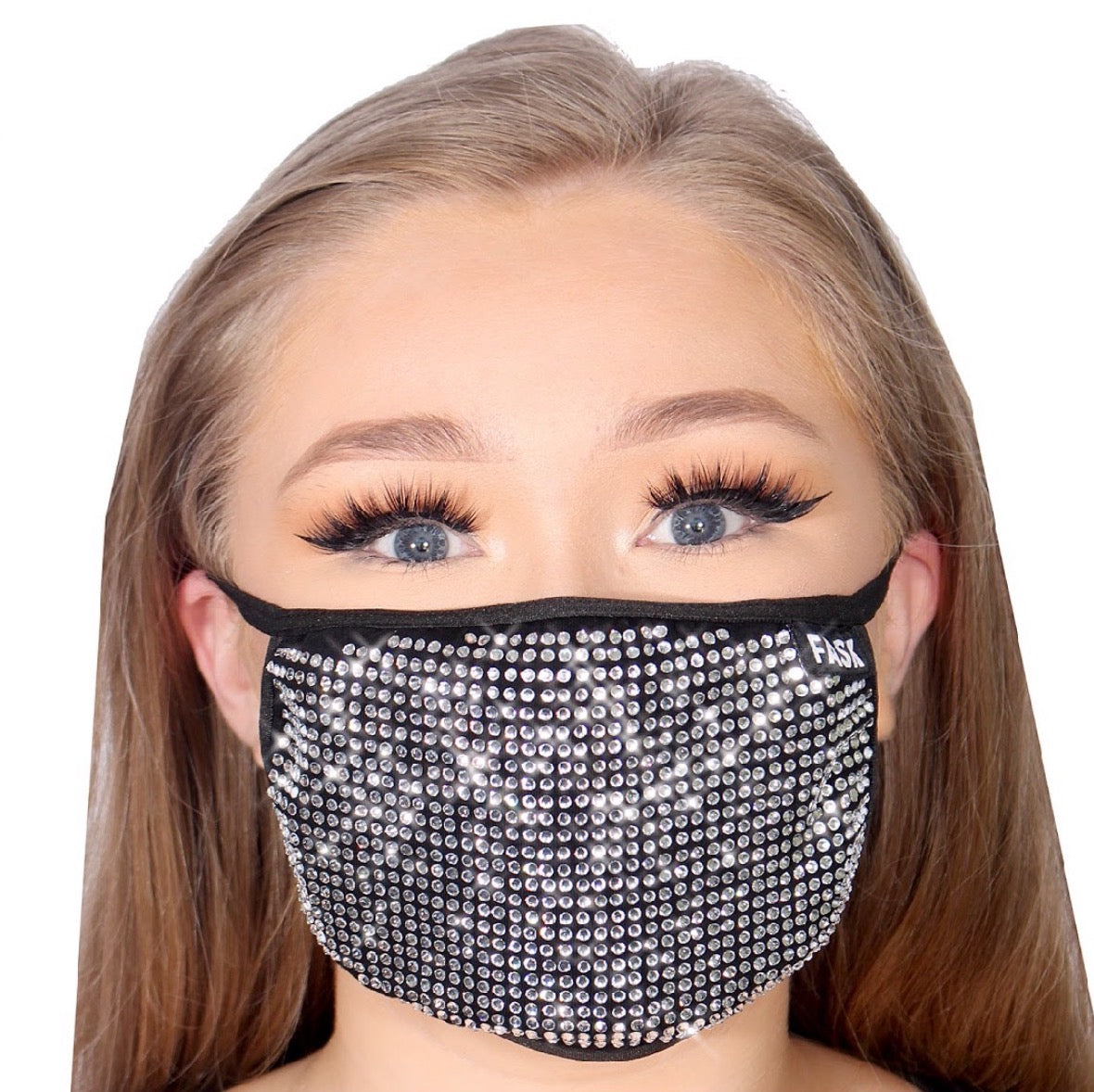FASK Full Stoned Cotton 2.0 Stoned Mask with Interchangeable Filter and Adjustable Size Strap