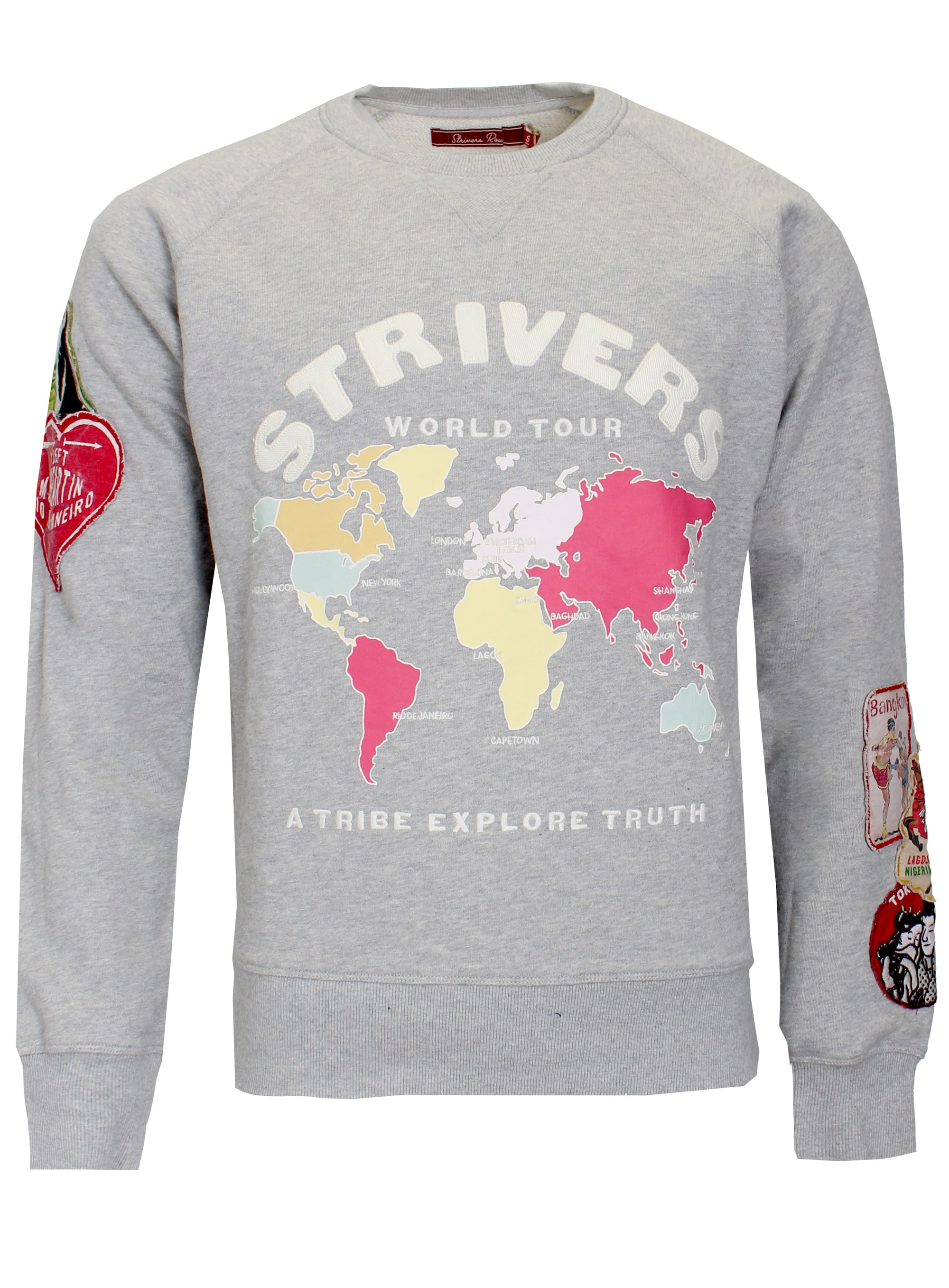 Men's Berlin Long Sleeve Sweatshirt-Heather Grey