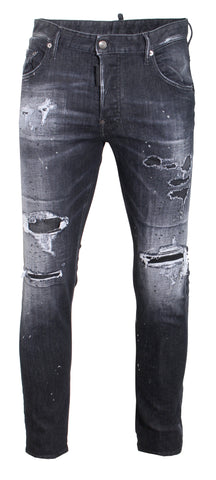 Men's Dsquared2 Black Denim with Logo Printed on the back