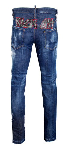 Men's Dsquared2 Kick Ass Denim