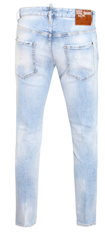 Men's Dsquared2 Light Blue Distressed Denim