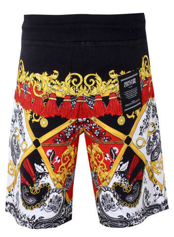 Versace Jeans Couture Paisley Print Bermuda Shorts