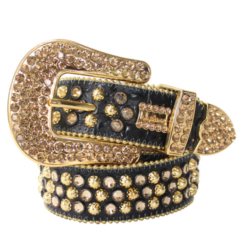 B.B Simon Belt-Gold and Black