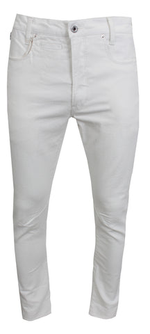 Men's D-Staq 3D Slim Jeans-White