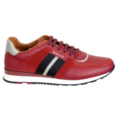 Men's Aston New Fo WS/28 Sneaker in Red Calf Suede-Red