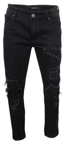 Men's Spencer 3 Rip and Repair Denim-Black