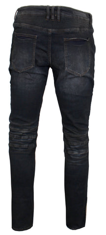 Men's Clemente Biker Denim-Charcoal