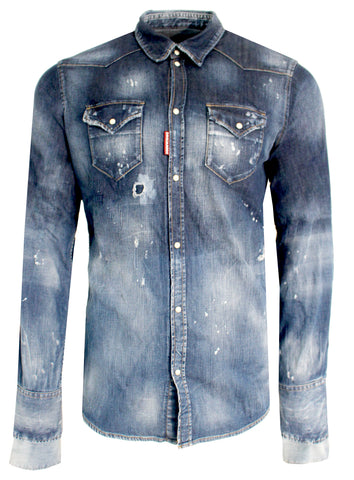 Men's Dsquared2 Denim Button Up Shirt
