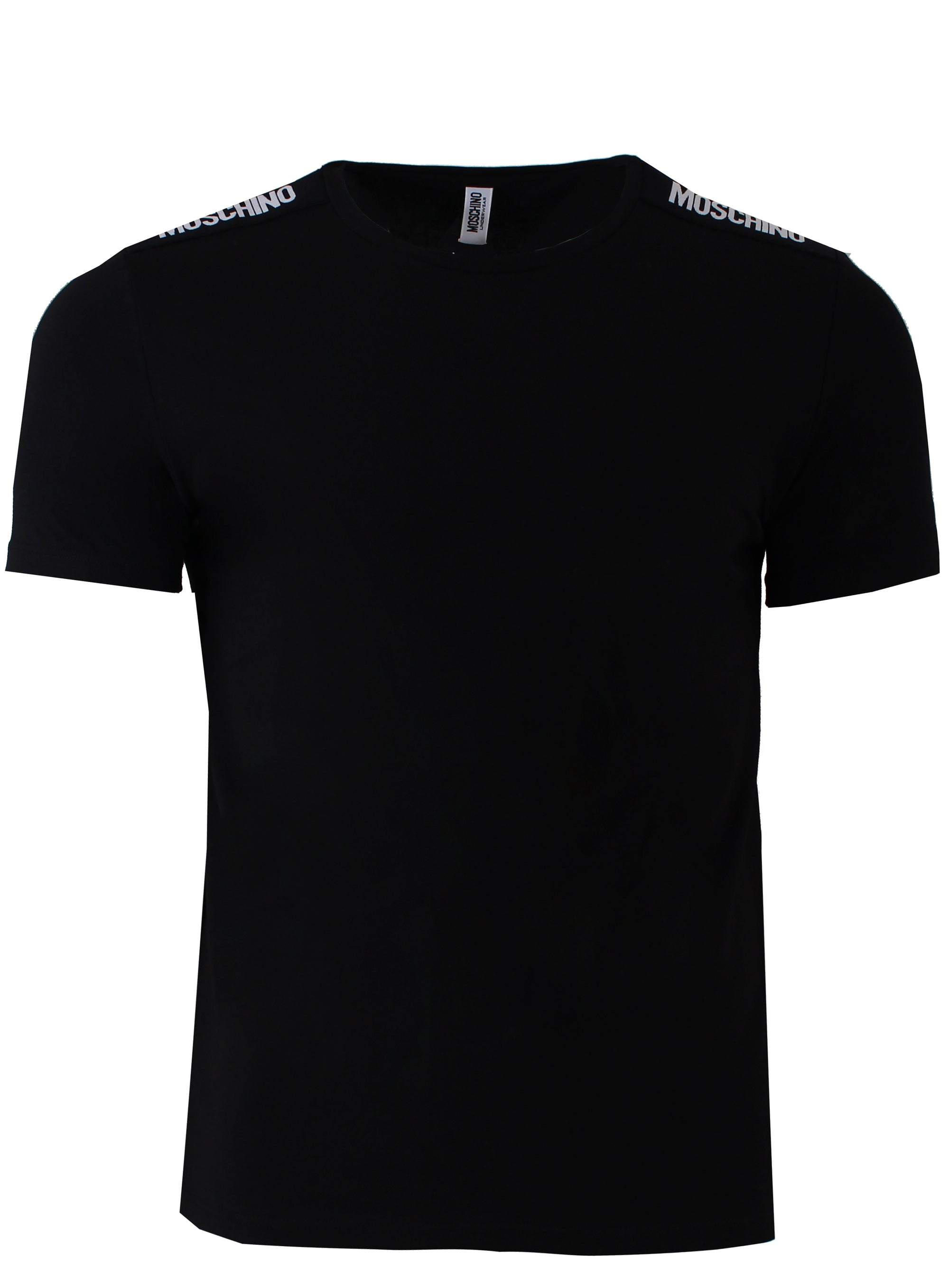 Men's Moschino Short Sleeve Stretch Side Stripe Logo Tee