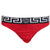 Men's Greca Border Thongs-Red and Black
