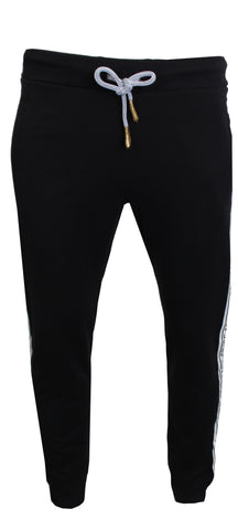 Men's Tape Logo Joggers-Black