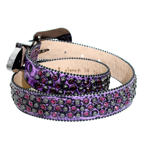 B.B Simon Belt-Purple