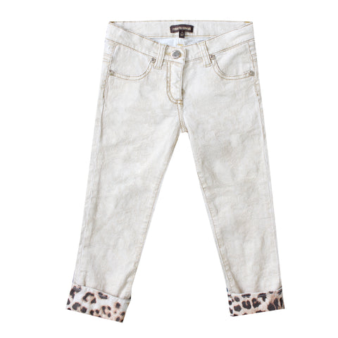Girls Gold Foil Pants
