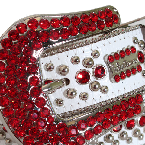 B.B Simon Belt with Red Stones