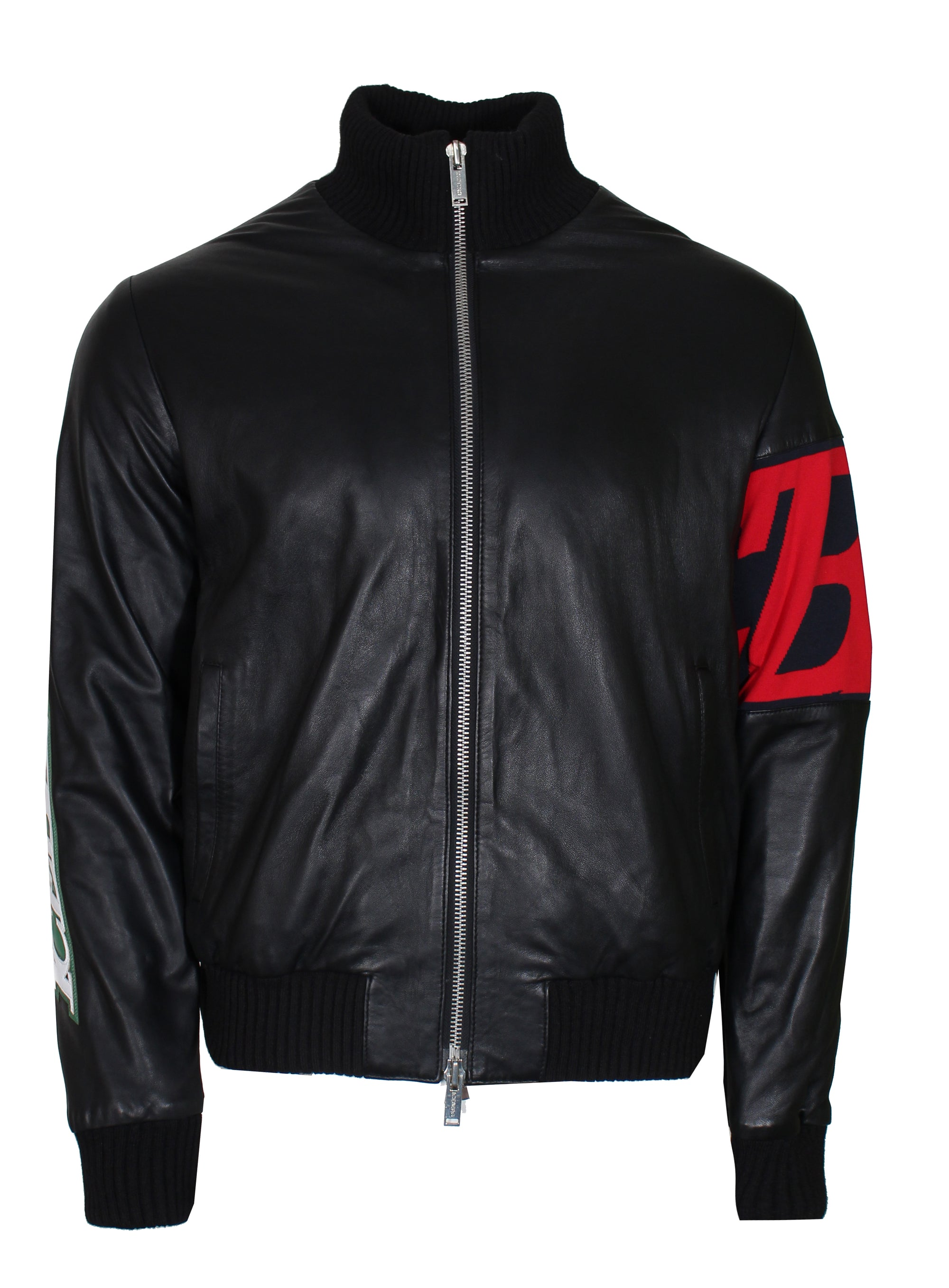 Iceberg Leather Jacket-Black