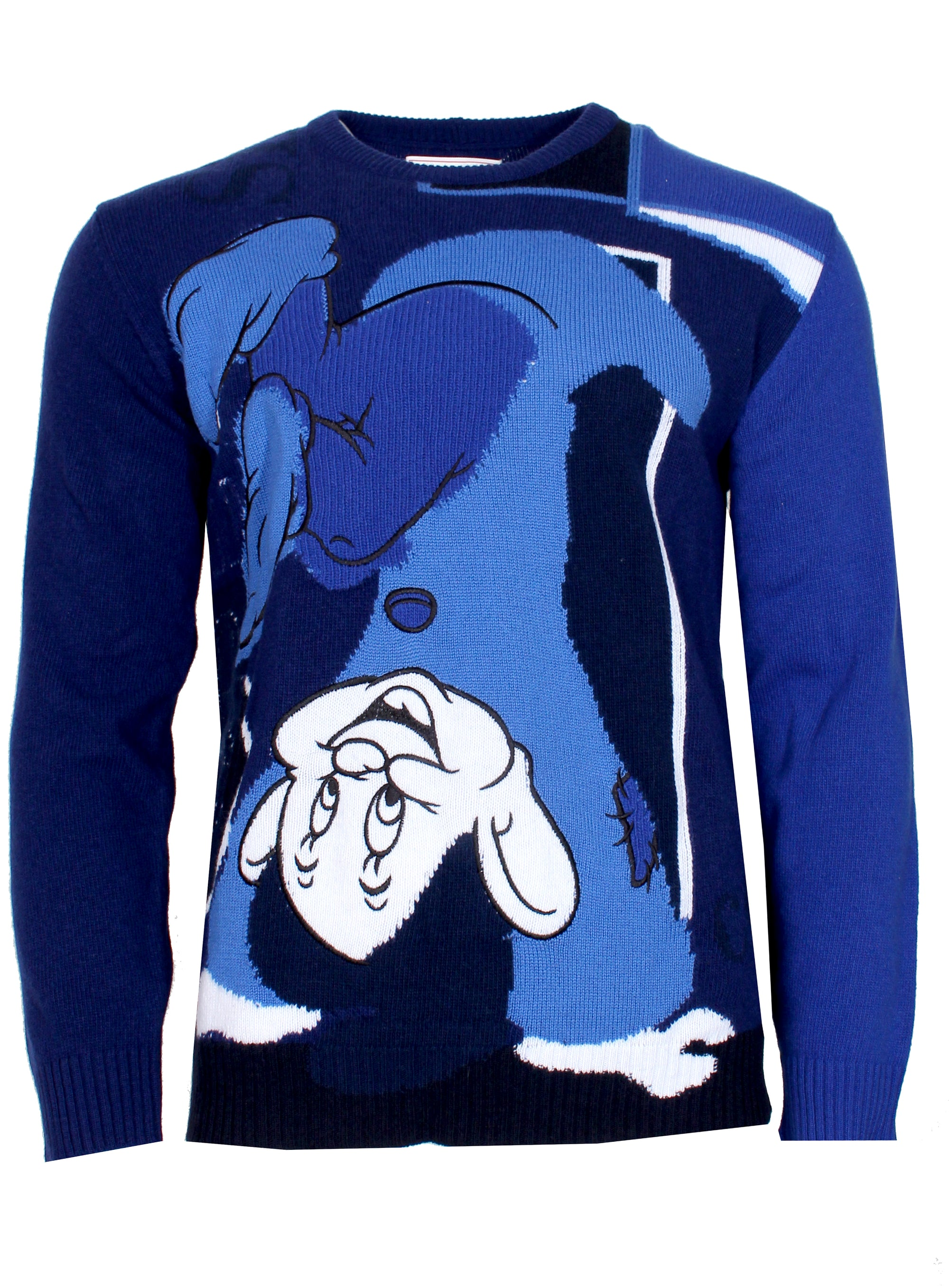 Men's Wool Iceberg Sweater with Disney Dopey Dwarf-Blue