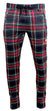 Multi Color Plaid Track Pants with Embroidered 'KASH' on Thigh