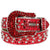 Red Belt with Silver Parachuted and Red Crystals