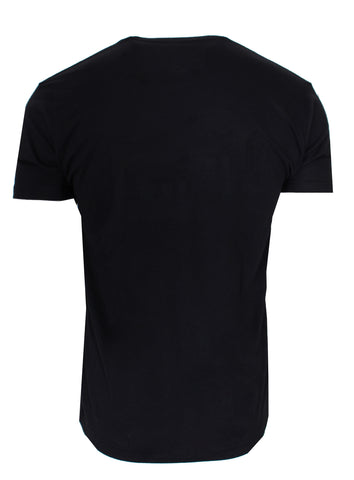 Crushed Diamond Tee-Black
