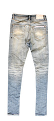 Indigo ozone wash low slim Denim