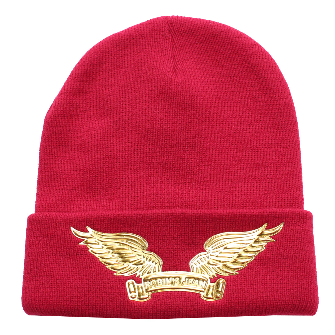 Robin's Skully W/Gold Wings | Red