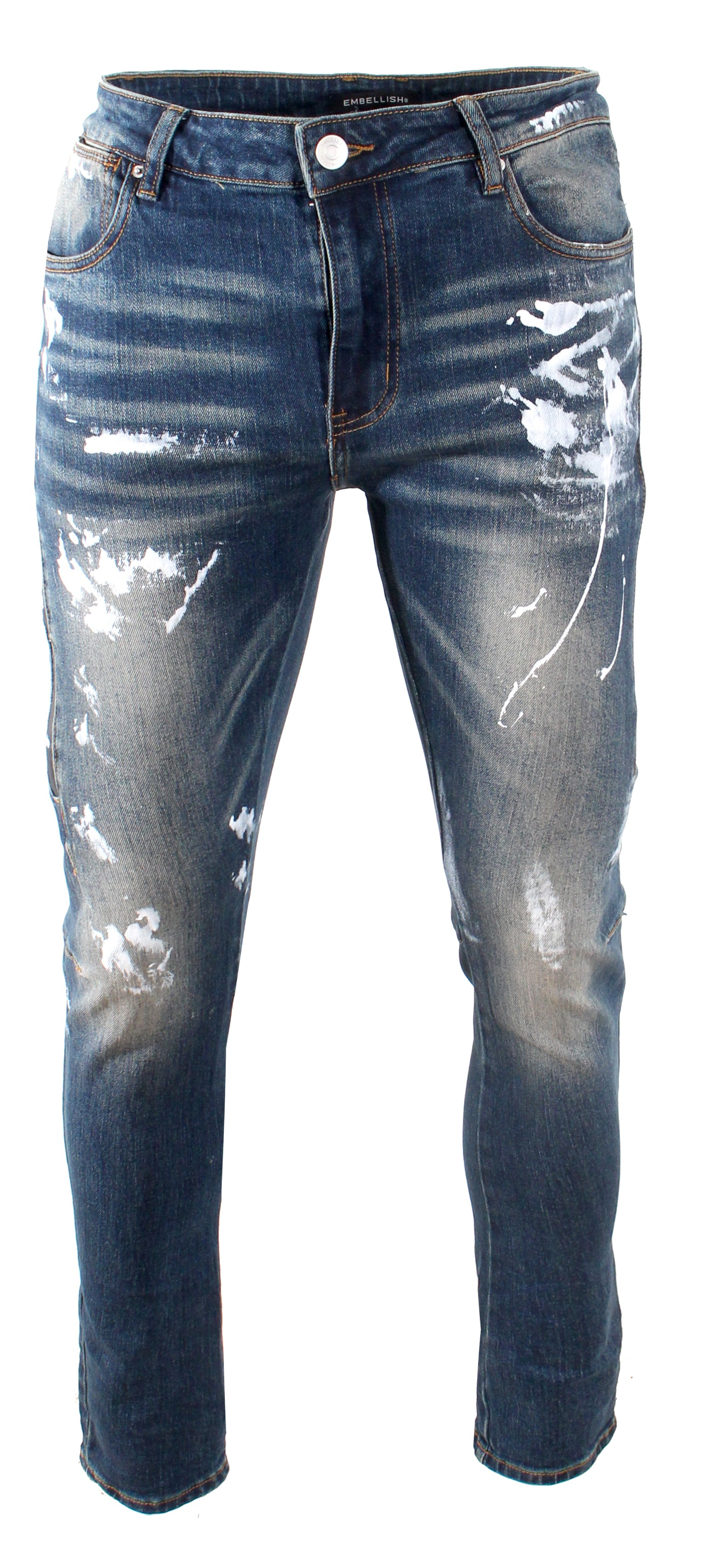 Kyla Denim with white paint