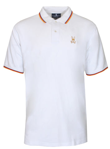 Men's St Lucia Polo Tee-White