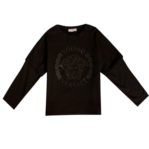 Kids Sweatshirt Crewneck-Black