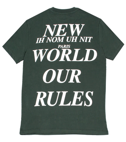 Baby Boy Short Sleeve Tee with Logo Tape Trim