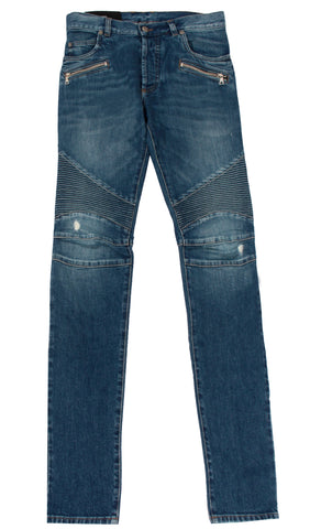 Men's Denim with Clear Crystals and Studs