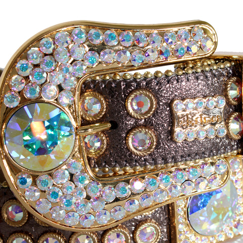 B.B Simon Belt with Square Crystal