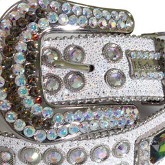 B.B Simon Belt with Crystal Embellishments