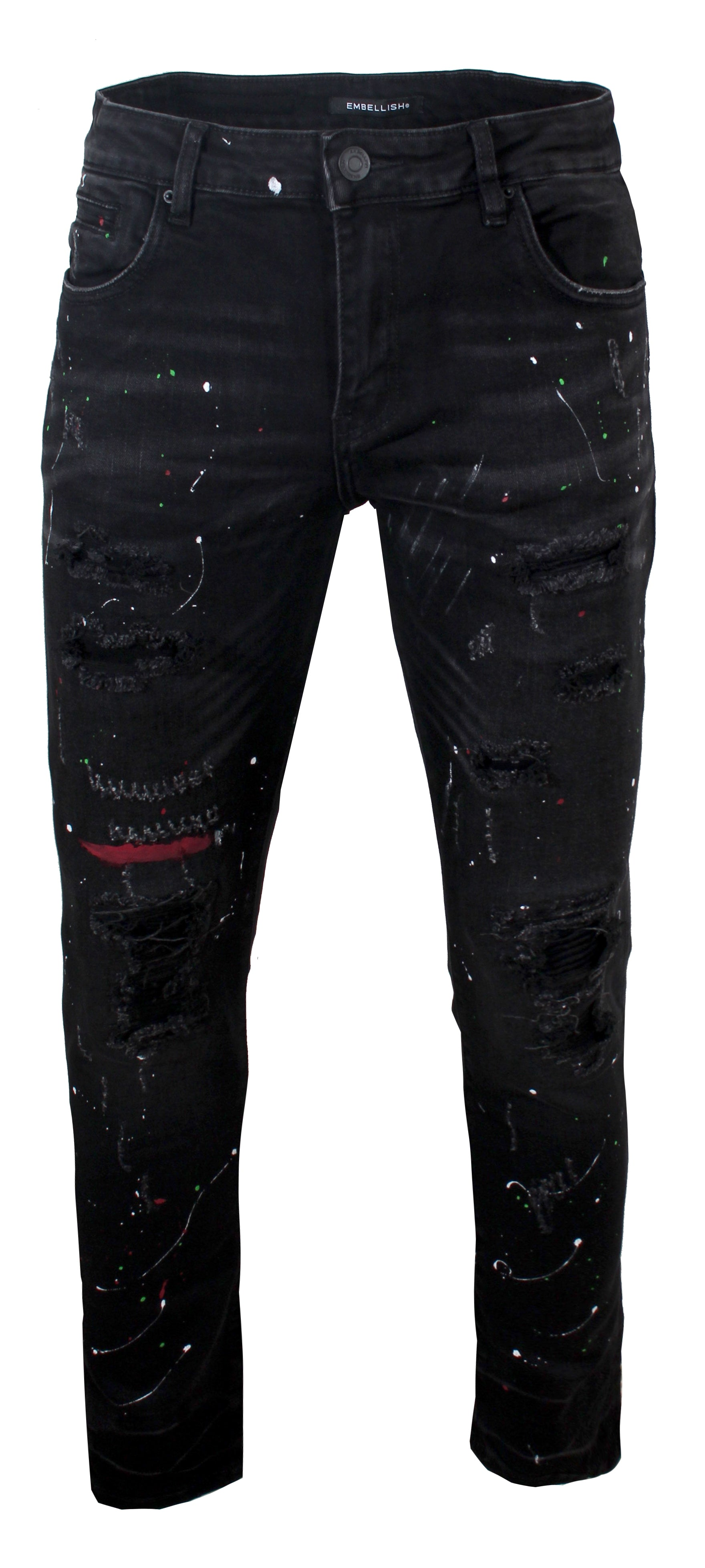 Lane Rip & Repair Denim - Black Paint