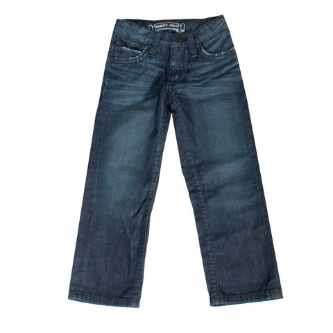 Kids Dark Blue Robin's Jeans with Full Flap Clear Crystal