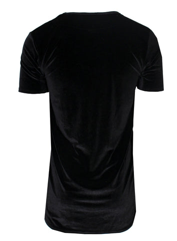 Kash Elongated Velour Stretch Short Sleeve Tee