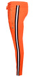 Men's Track Pants with Side Stripes Details-Orange