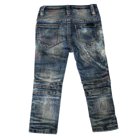 Kids Basquiat Biker Denim