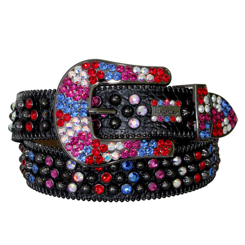 B.B Simon Belt with Multi Color Crystals