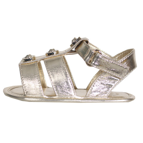 Young Versace | Baby Girls Sandal with Medusa Details