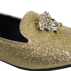 Young Versace | Girls Loafer W/Medusa Head Detail