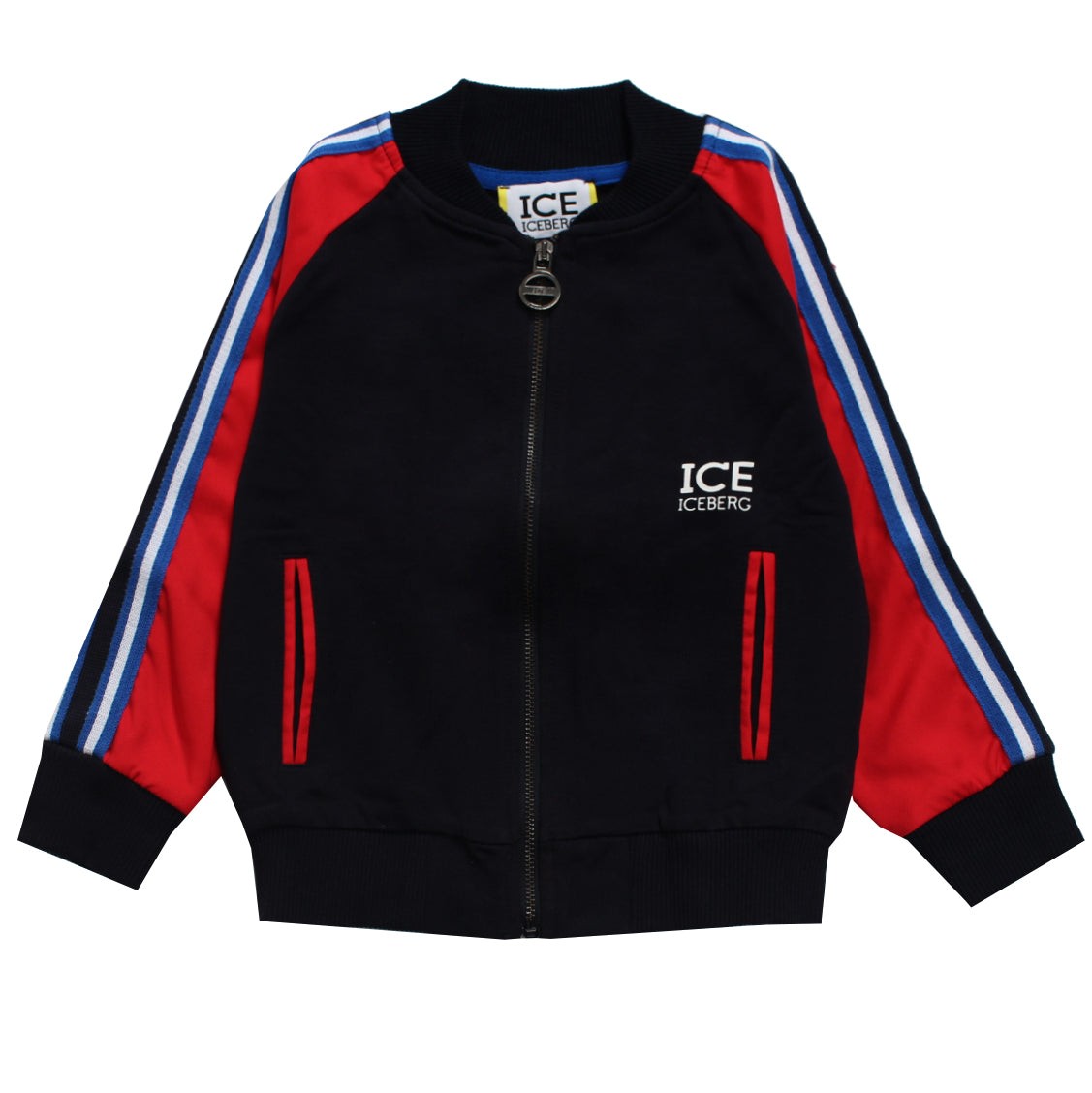 Iceberg | Boys Zipped up Jacket W/Logo and Stripe Detail