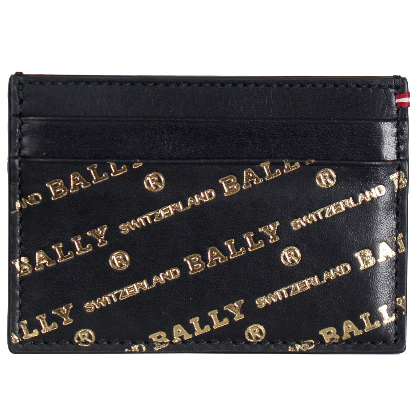 Men's BHAR.OB/04 Business Calf Card Holder-Black and Gold