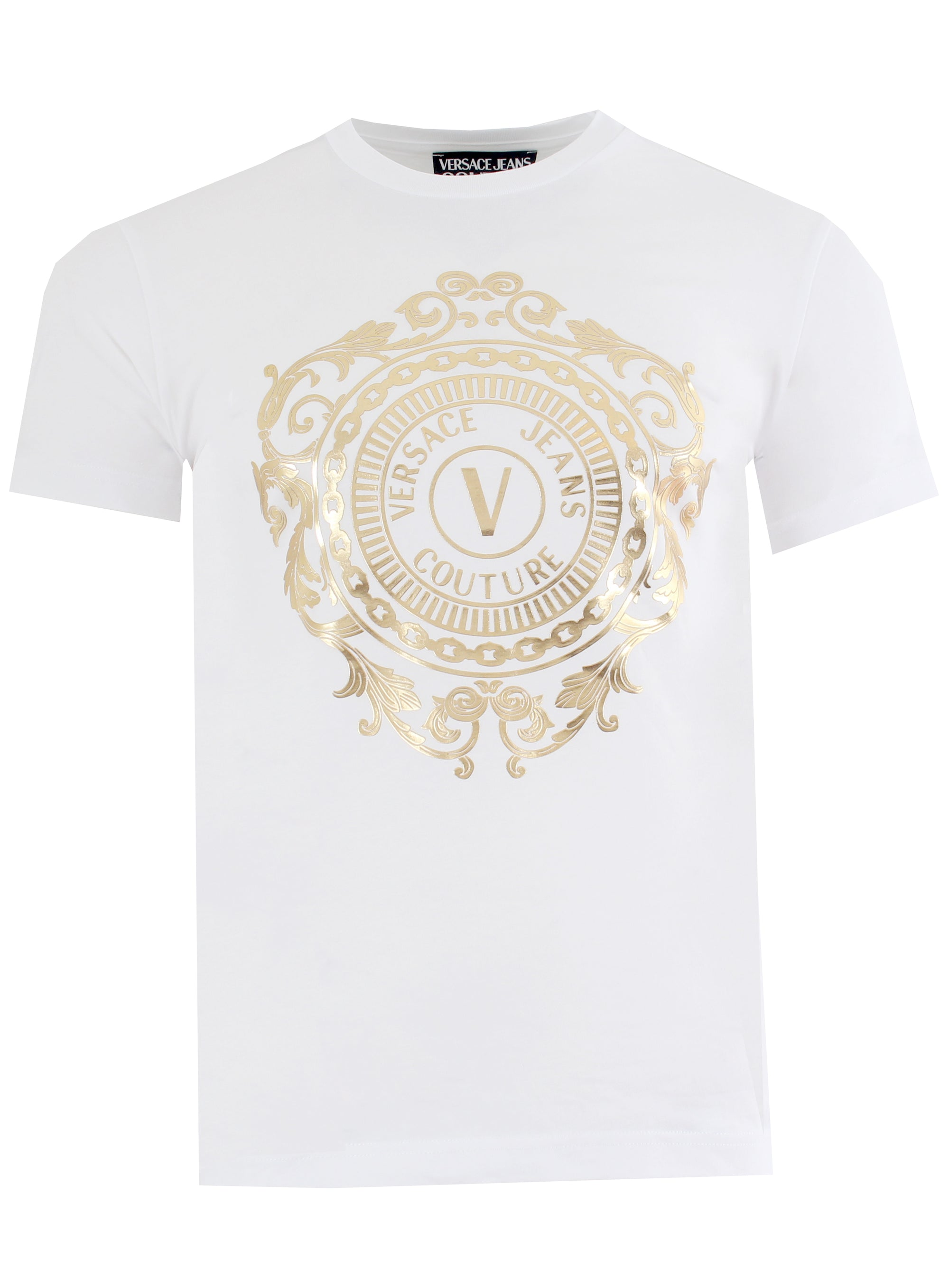 Short Sleeve Gold Graphic Logo