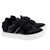 Boys Sneakers With Velcro Logo Straps - Black