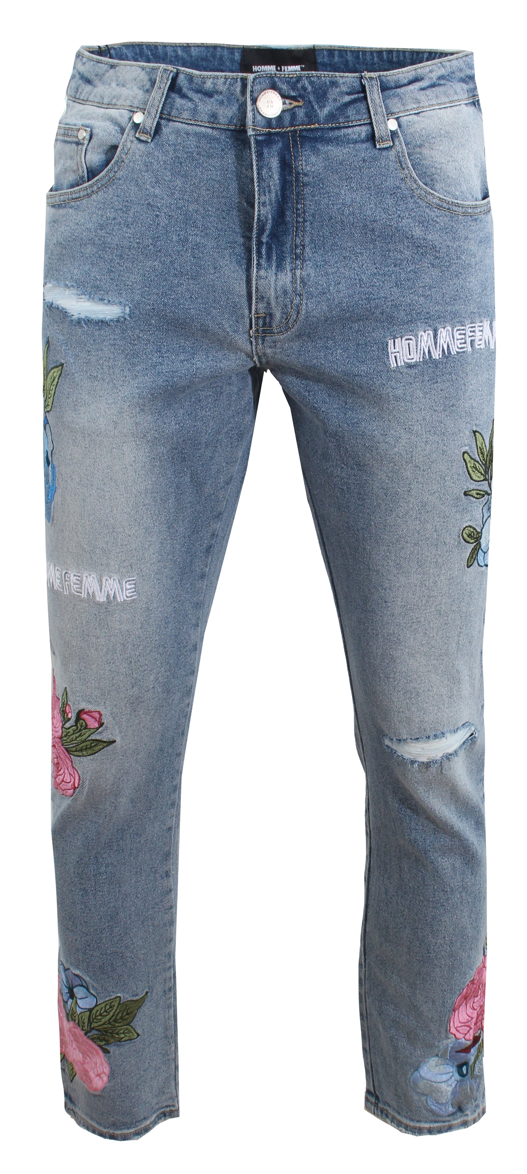 Floral Denim - Blue