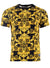 Baroque Print Short Sleeve Tee - Black & Gold