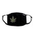 FASK Cannabis Cotton 2.0 Stoned Mask with Interchangeable Filter and Adjustable Size Strap-Black