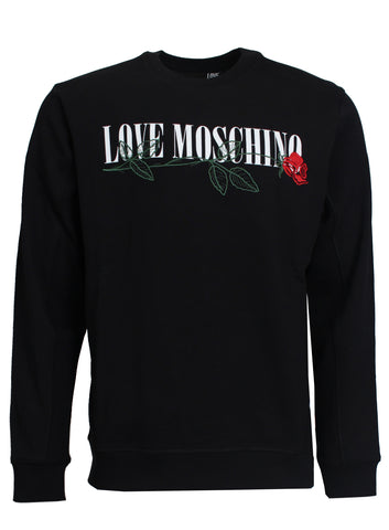 Rose Embroidered Crewneck