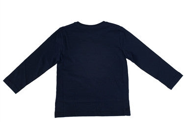 Boss Boys Long Sleeve Logo Tee (Navy)